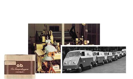o.b.® tamponer Historie - Første trin til succes (1950)